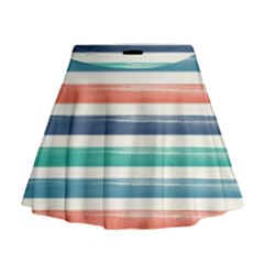 Summer Mood Striped Pattern Mini Flare Skirt