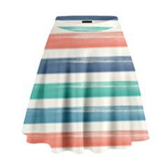 Summer Mood Striped Pattern High Waist Skirt
