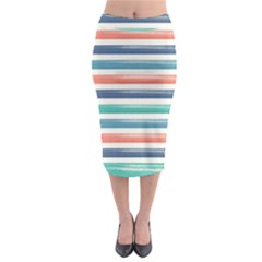 Summer Mood Striped Pattern Midi Pencil Skirt