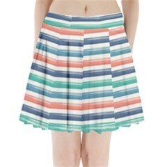 Summer Mood Striped Pattern Pleated Mini Skirt