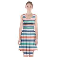 Summer Mood Striped Pattern Racerback Midi Dress