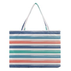 Summer Mood Striped Pattern Medium Tote Bag