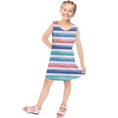 Summer Mood Striped Pattern Kids  Tunic Dress