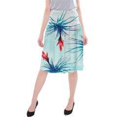 Tillansia Flowers Pattern Midi Beach Skirt