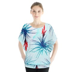 Tillansia Flowers Pattern Blouse