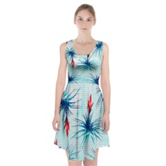 Tillansia Flowers Pattern Racerback Midi Dress