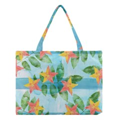 Tropical Starfruit Pattern Medium Tote Bag
