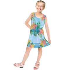 Tropical Starfruit Pattern Kids  Tunic Dress