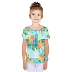 Tropical Starfruit Pattern Kids  One Piece Tee