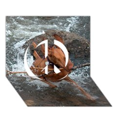 Vizsla Fetching In Water Peace Sign 3D Greeting Card (7x5)