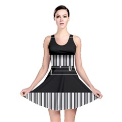 Piano Keyboard With Notes Vector Reversible Skater Dress