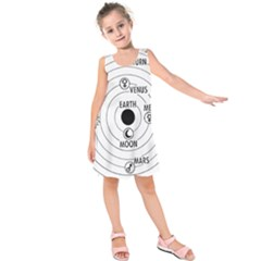 Ptolemaic System Vector Clipart Kids  Sleeveless Dress