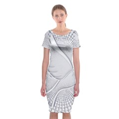 Points Circle Dove Harmony Pattern  Classic Short Sleeve Midi Dress
