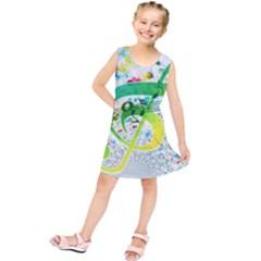 Points Circle Music Pattern Kids  Tunic Dress