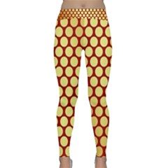 Red And Gold Effect Backing Paper Classic Yoga Leggings