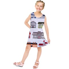 Simple Houses Vector Clipart Kids  Tunic Dress