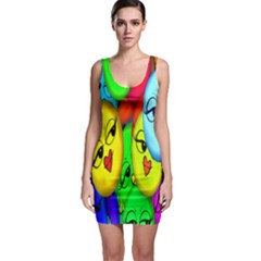 Smiley Girl Lesbian Community Sleeveless Bodycon Dress
