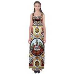 Stained Glass Skylight In The Cedar Creek Room In The Vermont State House Empire Waist Maxi Dress