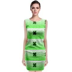 Shamrock Pattern Classic Sleeveless Midi Dress