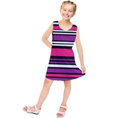 Stripes Colorful Background Kids  Tunic Dress