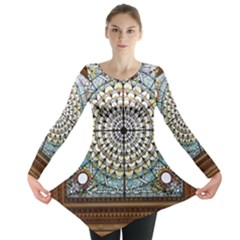 Stained Glass Window Library Of Congress Long Sleeve Tunic