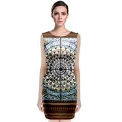 Stained Glass Window Library Of Congress Classic Sleeveless Midi Dress