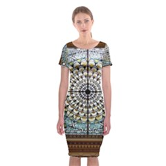Stained Glass Window Library Of Congress Classic Short Sleeve Midi Dress