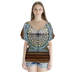 Stained Glass Window Library Of Congress Flutter Sleeve Top