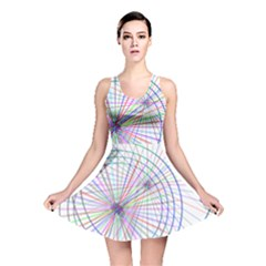 Spirography Vector Clipart Reversible Skater Dress