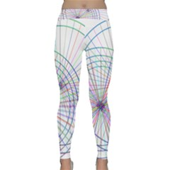 Spirography Vector Clipart Classic Yoga Leggings