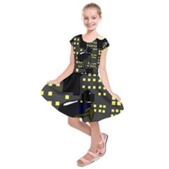 Thief Cartoon Kids  Short Sleeve Dress