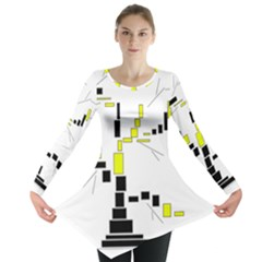Tree Made From Rectangles Vector Long Sleeve Tunic