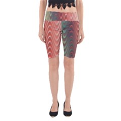 Texture Digital Painting Digital Art Yoga Cropped Leggings