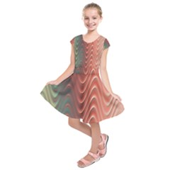 Texture Digital Painting Digital Art Kids  Short Sleeve Dress