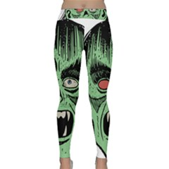 Zombie Face Vector Clipart Classic Yoga Leggings