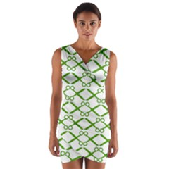 Wallpaper Of Scissors Vector Clipart Wrap Front Bodycon Dress
