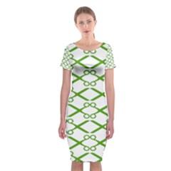 Wallpaper Of Scissors Vector Clipart Classic Short Sleeve Midi Dress