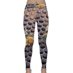 Worker Bees On Honeycomb Classic Yoga Leggings
