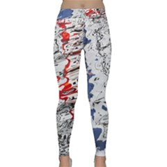 Water Reflection Abstract Blue Classic Yoga Leggings