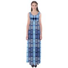Textile Structure Texture Grid Empire Waist Maxi Dress