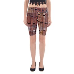 Wood Logs Wooden Background Yoga Cropped Leggings
