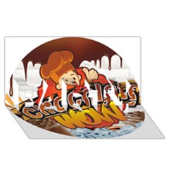 Chocolate Wow Party 3d Greeting Card (8x4)