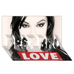 Sasha Grey Love Best Bro 3d Greeting Card (8x4)