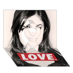 Sasha Grey Love Ribbon 3d Greeting Card (7x5)
