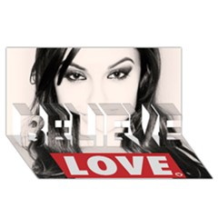 Sasha Grey Love Believe 3d Greeting Card (8x4)