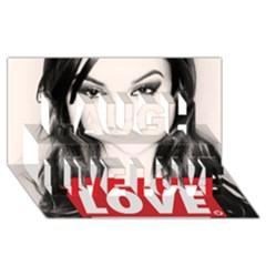 Sasha Grey Love Laugh Live Love 3d Greeting Card (8x4)