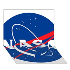 Nasa Logo Heart Bottom 3D Greeting Card (7x5)