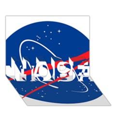 Nasa Logo Hope 3d Greeting Card (7x5)