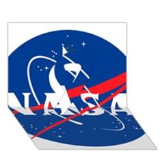 Nasa Logo Ribbon 3D Greeting Card (7x5)