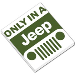 Only In A Jeep Logo Small Memo Pads